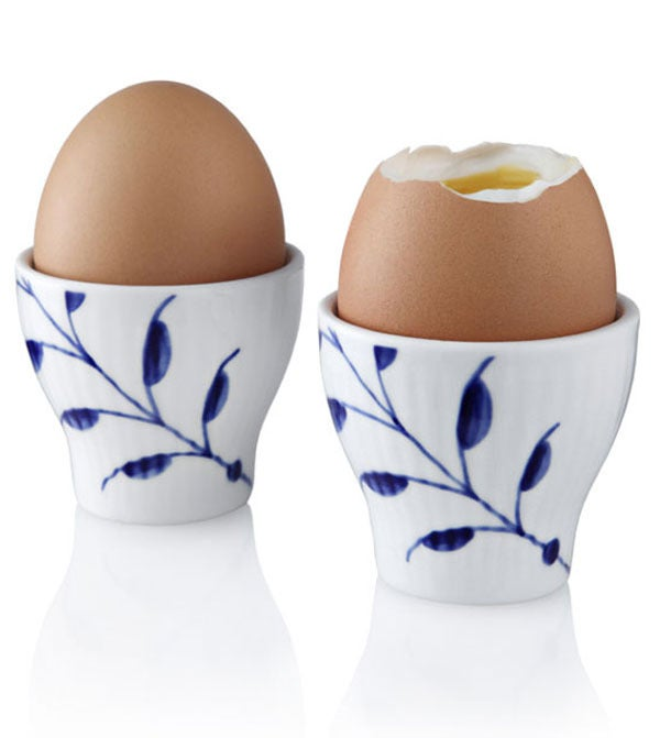 Image of Blue Fluted Mega -- Egg Cups 2-Pack