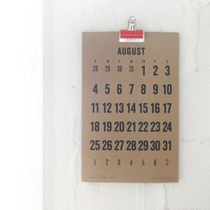 Image of 2013 Wall Calendar - Kraft