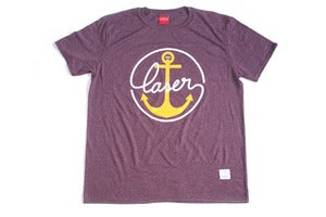 Image of Sail Home Tee heather burgundy