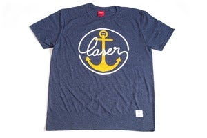 Image of Sail Home Tee heather navy