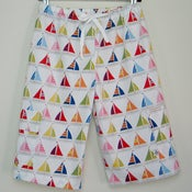 Image of Beach shorts - sailboats in sailor