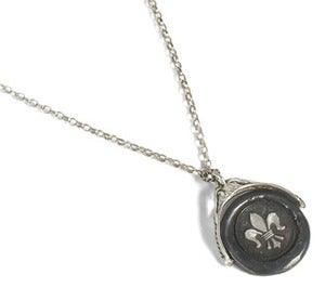 Image of Pivoting Fleur-de-Lis Wax Seal Necklace