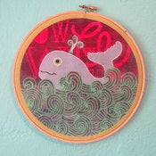 Image of ONE HAPPY WHALE :     wall hanging