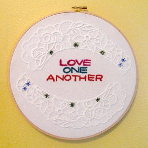 Image of LOVE ONE ANOTHER : Simple Reminders Embroidered