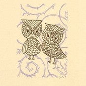 Image of TWO OWLS : limited edition screenprint