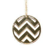 Image of chevron necklace [gold mirror]