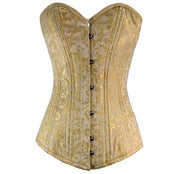 Image of Longline Gold Brocade Overbust