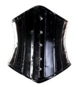 Image of Black PVC Longline Underbust