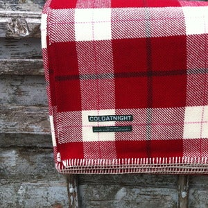 Image of coldatnight plaid blanket in Berry red