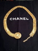 "Image of Chanel Gold Chain belt 32"" 90s"