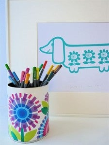 Image of Jane Foster Sausage Dog Screenprint