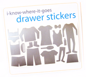 Image of Drawer Organizer Stickers - Big Girl