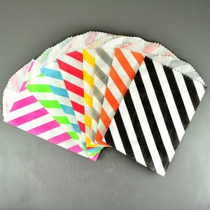 Image of Petite Diagonal Stripe Bags - 20 Pack