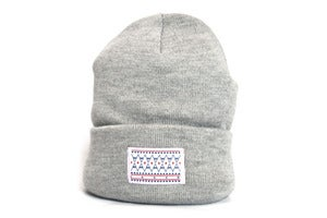 Image of Laser native label heather grey beanie