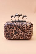 Image of Brass Knuckles Leopard Clutch