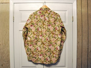 Image of ENGINEERED GARMENTS FLORAL TAB COLLAR SHIRT - LARGE