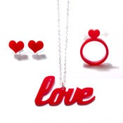 Image of love set [necklace, earrings, rings]
