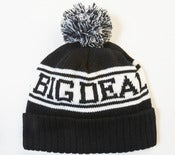 Image of 2012 Big Deal Black Bobble Hat Beanie With A 2 Tone Bobble