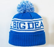 Image of 2012 Big Deal Blue Bobble Hat Beanie With A 2 Tone Bobble