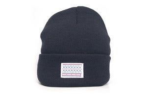 Image of Laser native label navy beanie