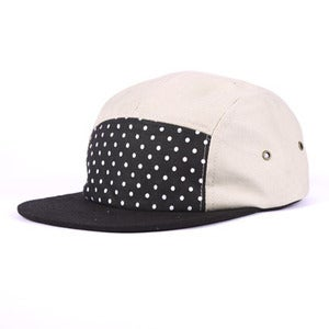 Image of XCVB - Polka Dot 5 Panel Cap Sand