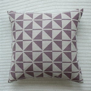 Image of Plum Faroese Patterned Cushion