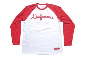 Image of Laser 2 years Unfamous anniversary raglan tee