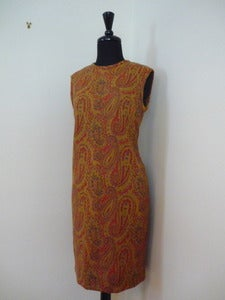 Image of 60s paisley print mod shift dress