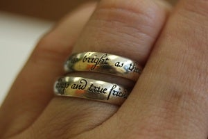 "Image of ""rings are true friends"" and ""no star"" ox silver rings"