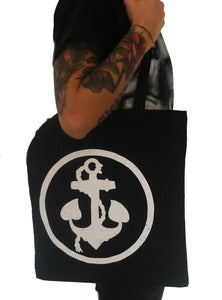 "Image of ANCHORS AWEIGH RECORDS ""logo"" tote bag"