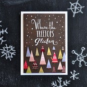 "Image of ""Where The Treetops Glisten"" Holiday Card"