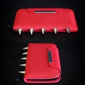 Image of Samsung Galaxy 3 Red Palm Wallet (FREE SHIPPING)