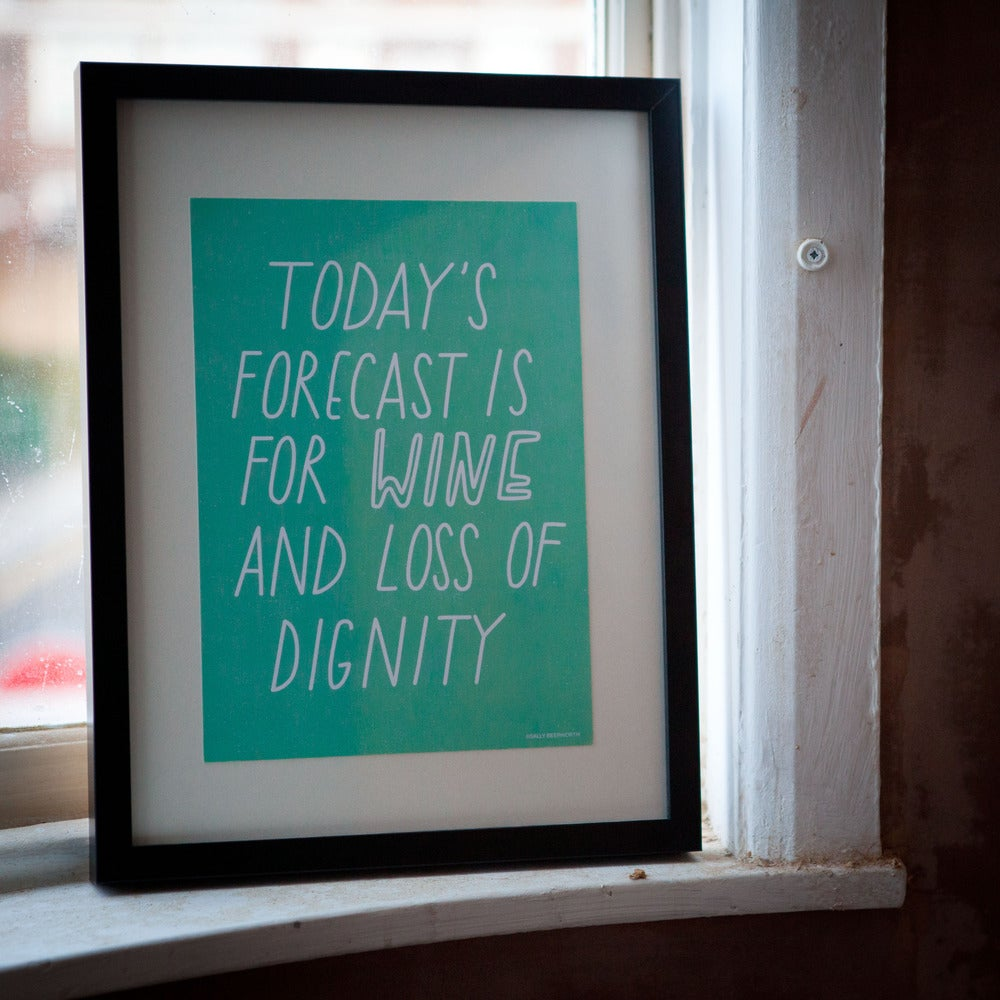 Image of Today's Forecast A4 Poster/Print
