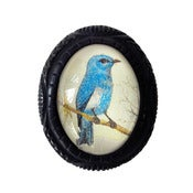 Image of Bluebird Carved Resin Brooch by Hotcakes Design