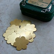 Image of SALE!  Brass Petal Flower blanks for stamping, 7/8""
