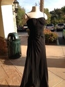 Image of Black Floor-Length Evening Dress
