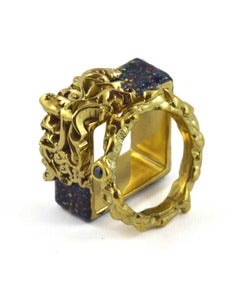 Image of Artifice Ring Set Opal/Brass