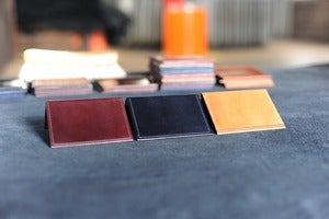 "Image of Louis ""Little New York"" - Horween Shell Cordovan Front Pocket Wallet"
