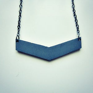 Image of Chevron Thin // Hand-painted wooden necklace