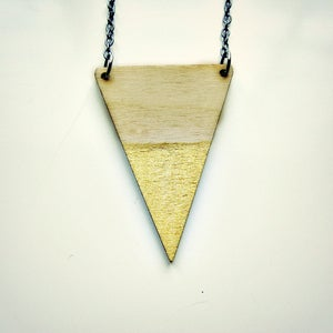 Image of Gold Tip // Triangle Necklace