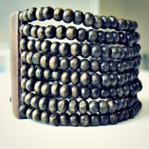 Image of Wood Bangle // Wood Bead Bangle