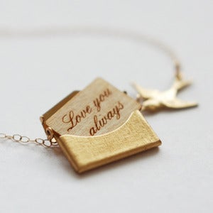 Image of Mini Gold Personalised Love Letter Necklace