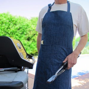 Image of Mens Apron Pattern - Grilling Barbeque Chefs Apron PDF Sewing Pattern