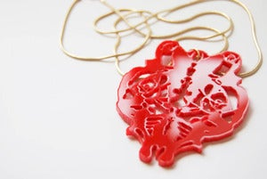 Image of Necklace : Red