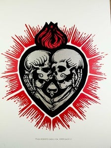 Image of LOVE BEYOND DEATH - three color screenprint