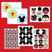 Image of Mickey Mouse printable Birthday party collection