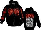 Image of EPICARDIECTOMY Abhorrent stench tour Zip-Hoodie 
