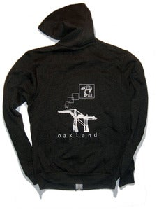 Image of Oakland AT-AT unisex zip-hoodie HEATHER CHARCOAL
