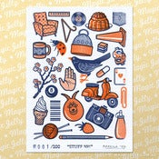Image of Stuff No 1 Gocco Print