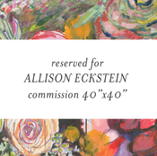 "Image of commission flowers for allison 40""x40"""